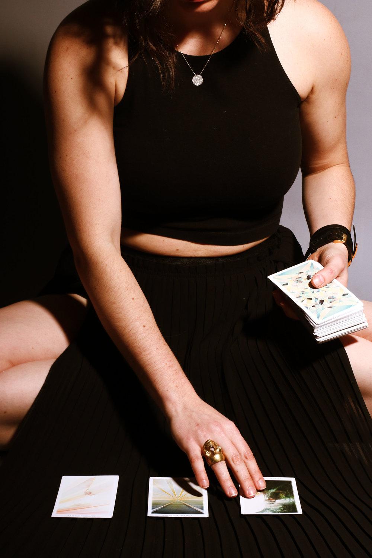 alessandra calderín, three card spread with the fountain tarot