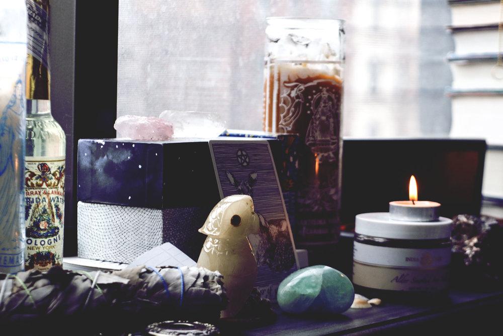 alessandra calderín, window altar