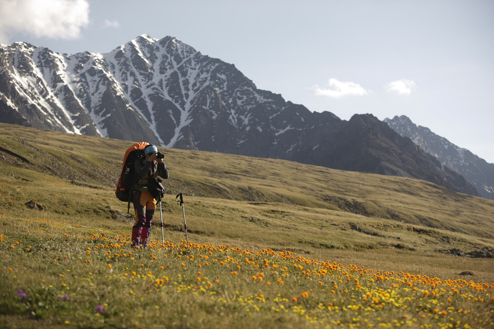 Moderate hiking in the Altai Mountains