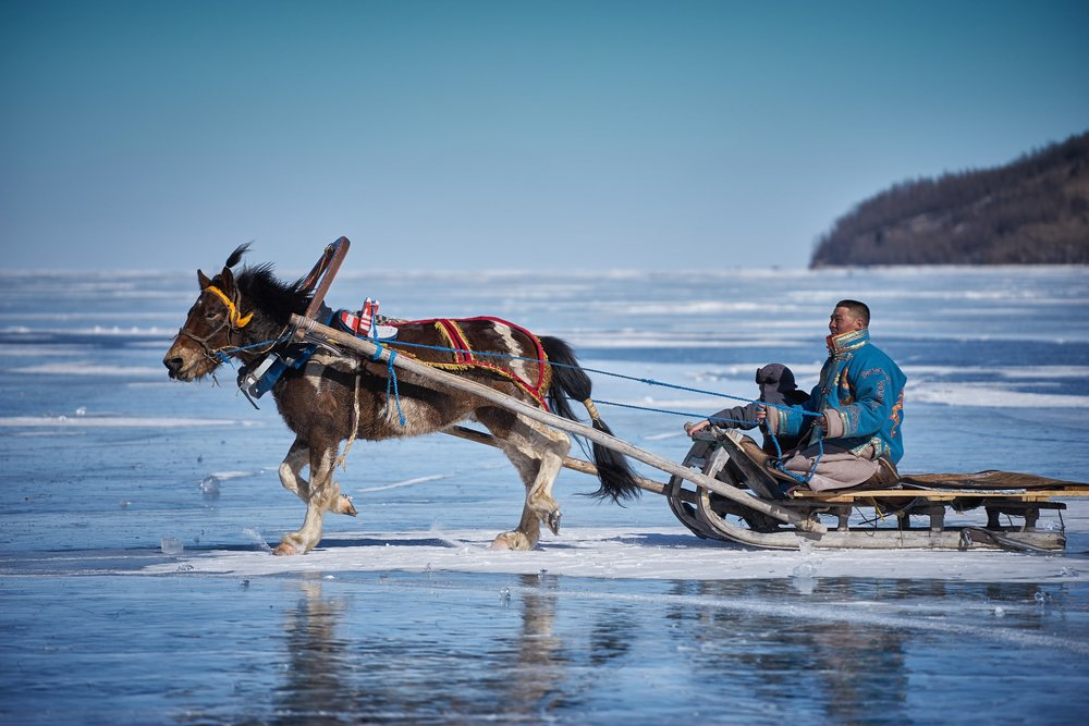 Sleigh ride by Khasar Sandag