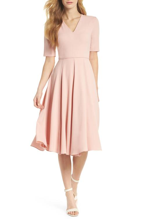 City Crepe Fit & Flare Dress