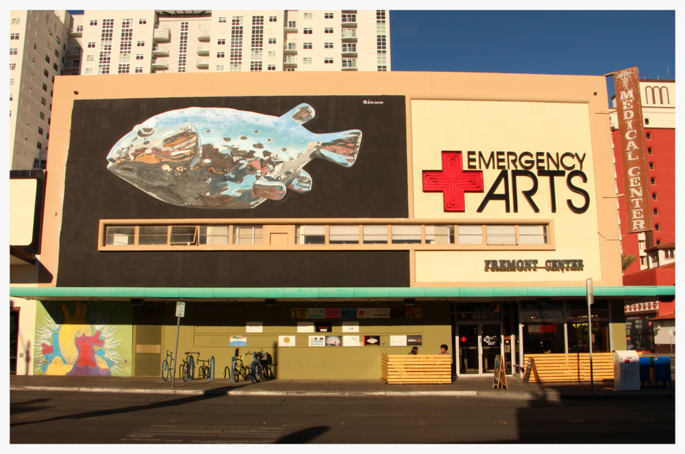 The Emergency Arts Building, located in downtown Las Vegas.  Host of Small Space Fest 2016.