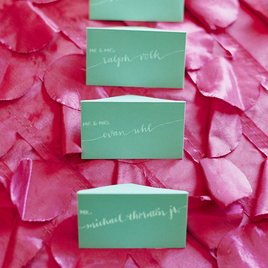 MODWEDDINGS Pantone-Inspired Wedding invitations and Hand CAlligraphy