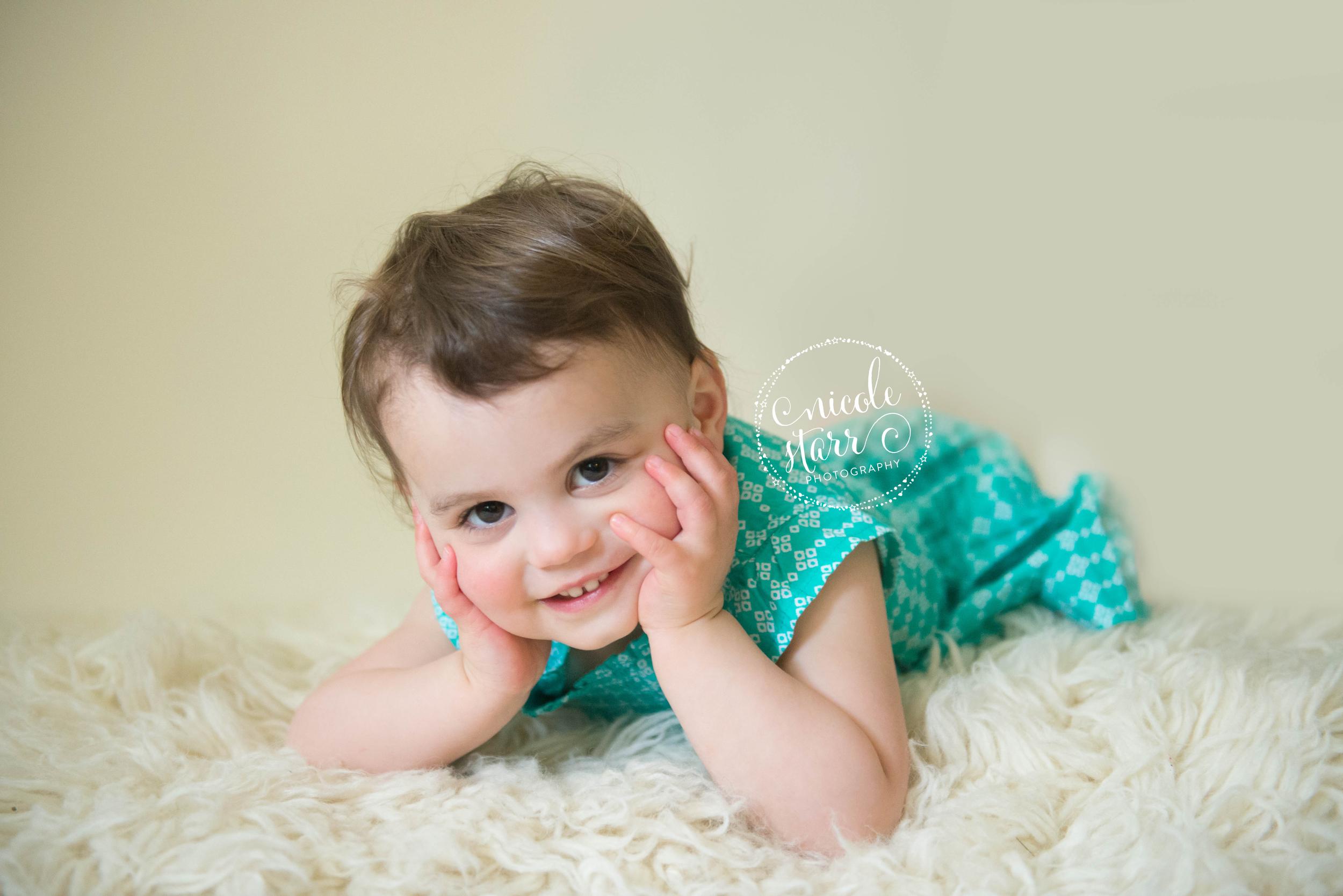 short haired toddler girl photo