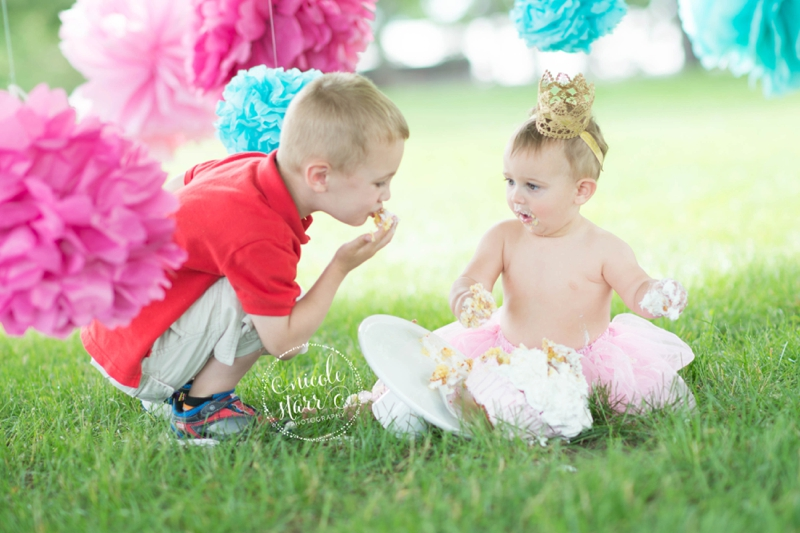 pink and teal cake smash baby birthday session boston_0014