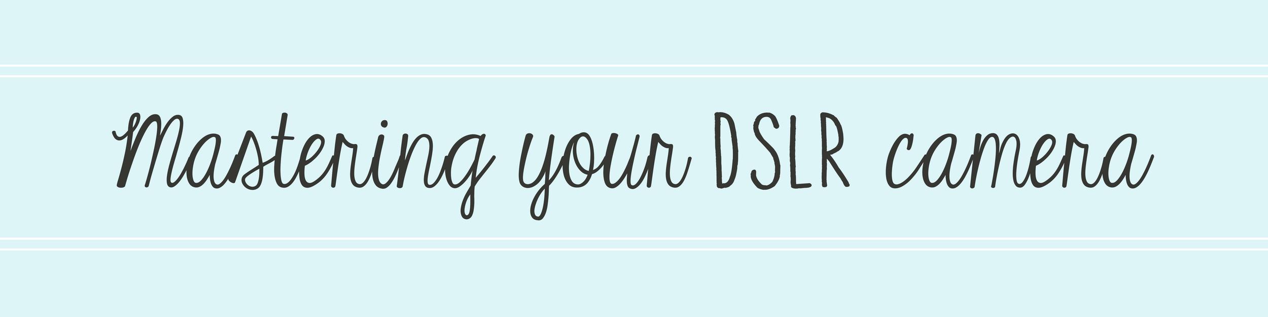 mastering dslr divider image