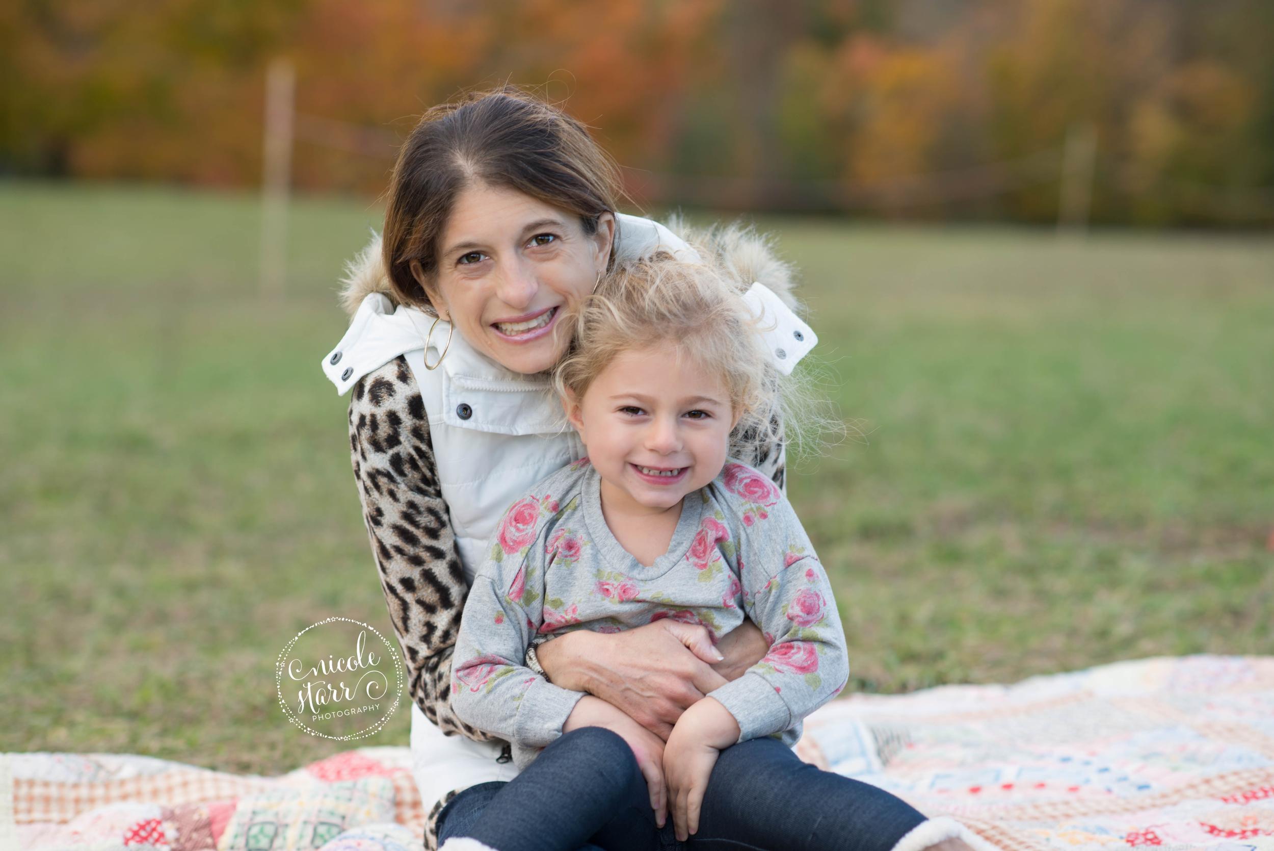 mom and daughter fall photos