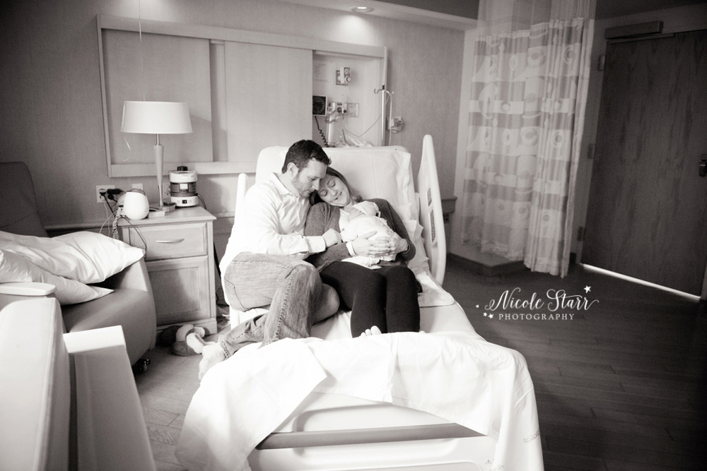 saratoga albany newborn baby photographer fresh 48 hospital session new mom and dad