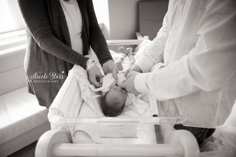 saratoga springs newborn photographer fresh 48 hospital session