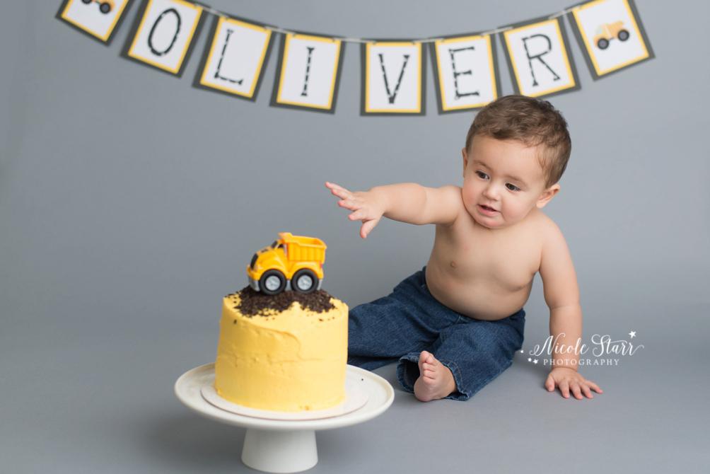 Upstate New York Saratoga Albany Cake Smash First Birthday Baby Photographer 0013