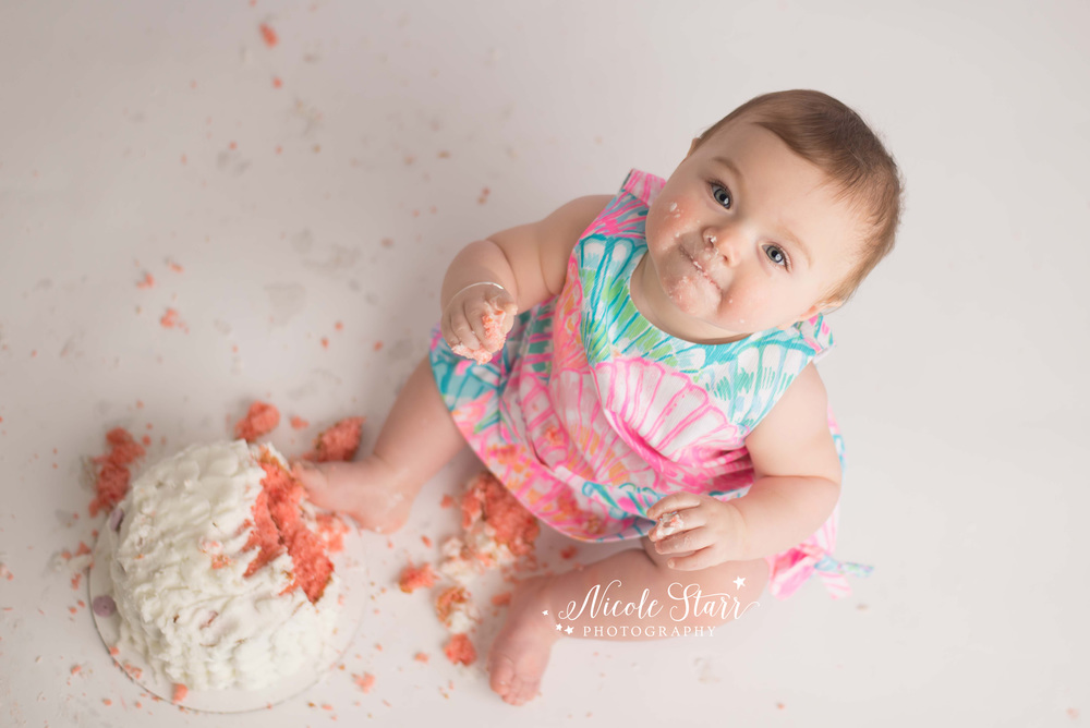 saratoga springs albany new york baby cake smash photographer lilly pulitzer.jpg