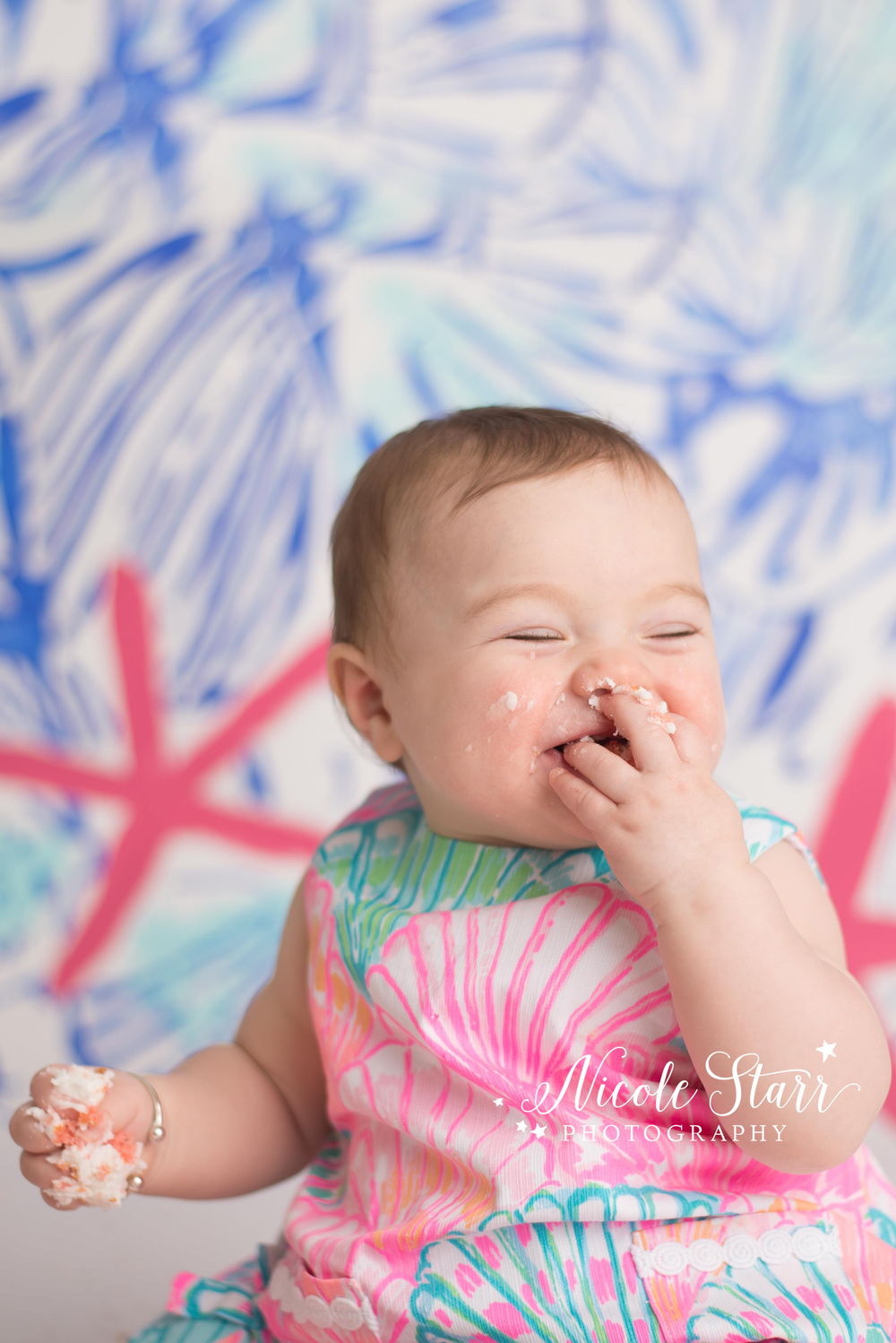 albany baby photographer lilly pulitzer cake smash copy.jpg