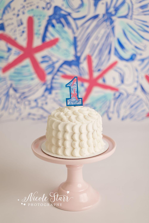 A Lilly Pulitzer First Birthday Cake Smash Saratoga