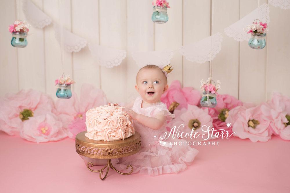 Nicole Starr Photography | Saratoga Springs Cake Smash Photographer | Boston Cake Smash Photographer | Saratoga Springs Family Photographer | Boston Family Photographer