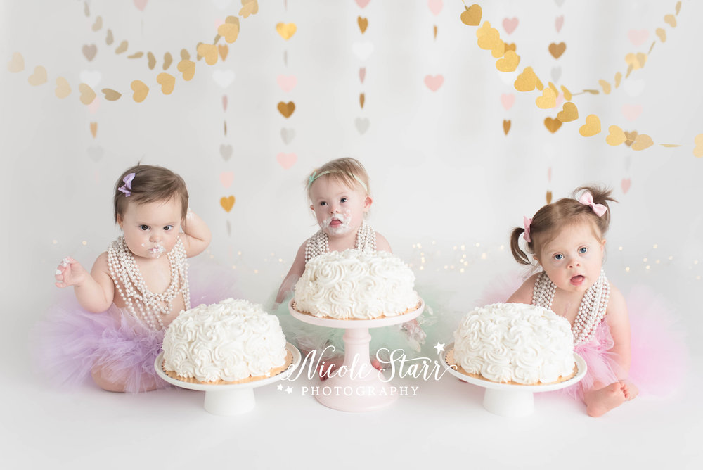 Nicole Starr Photography | Saratoga Springs Cake Smash Photographer | Boston Cake Smash Photographer | Down Syndrome Photographer | Down Syndrome Awareness