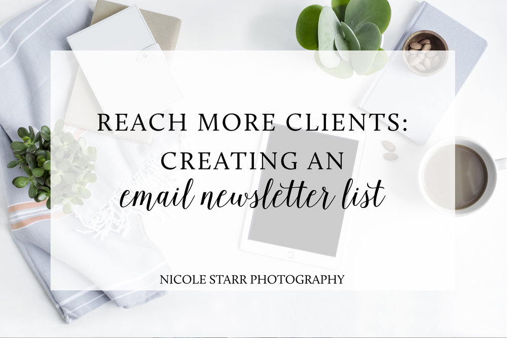 email newsletter marketing tips by nicole starr photography