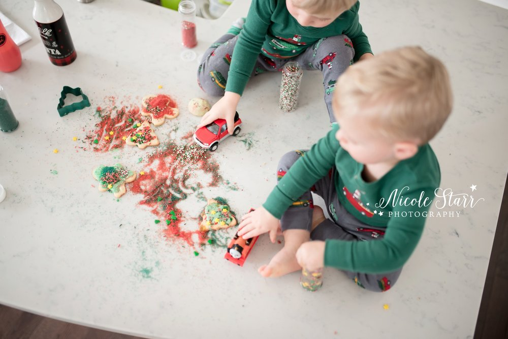 Nicole Starr Photography  |  Holiday cookie baking photo shoot with Saratoga Springs lifestyle photographer  |  Family photo session  |  Life inspired portraits  |  Family photos at home  |  Saratoga Springs family photographer