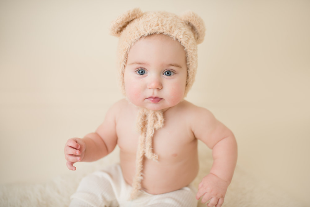 baby bear bonnet, saratoga springs baby photographer