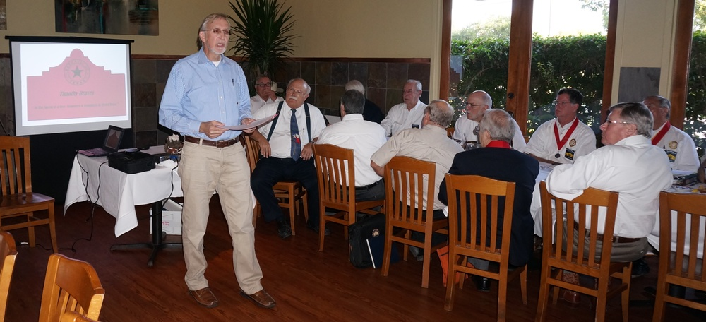 "How The Ox Saved Texas!   At the Chapter Meeting Sept. 17th, Guest Speaker   Prof. Timothy Draves   of Incarnate Word University brings to light the everyday hardships faced by our ancestors in his talk  ""At the Speed of a Cow: Teamsters and Freighters in 1840s Texas.""  at the Paloma Blanca Restaurant.  Prof. Tim Draves was born in Wisconsin, and attended college there. He has lived in Galveston, and Austin, but he's most happy in San Antonio, TX, where he has lived since 1982.    Prof. Draves   earned a master's degree in history at UTSA in 2005 and at the same time began working with the University of the Incarnate Word, first as editor of an online history Journal about San Antonio, and now as a history instructor, too,  teaching U.S.  History, Texas History, and some semesters, San Antonio History. His research interest is Mary Menger, founder of the Menger Hotel—he says ""Some days it's a research project, some days it's a hobby, and most of the time it's an obsession."" The Menger story is the basis for his talk tonight about the Republic of Texas    ""At the Speed of a Cow: Teamsters and Freighters in 1840s Texas."""