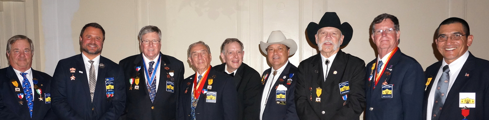 Al Davis, Jason Chall, Jim Massingill, Ed Heath, Max Strozier, George Harcourt, Jeff Weathersby, Ken Pfeiffer  , & attend the 96th Annual Patriotic and Historical Ball which is one of the opening galas of Fiesta® 2015. The first Patriotic and Historical Ball took place in 1919 to honor San Antonio's military personnel, and the event has continued since that time. Military personnel from local installations and organizations are special guests that evening. The evening begins with patriotic ceremonies, followed by the introduction of the Pioneers' own Fiesta royalty, the Honorary Lady Chairman. A highlight of the evening is a visit from King Antonio of the Texas Cavaliers.