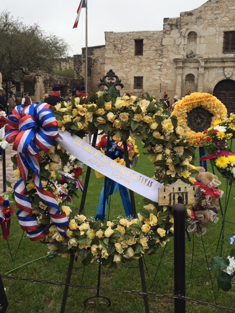 The Sons of The Republic Alamo Chapter Memorial Wreath 2016