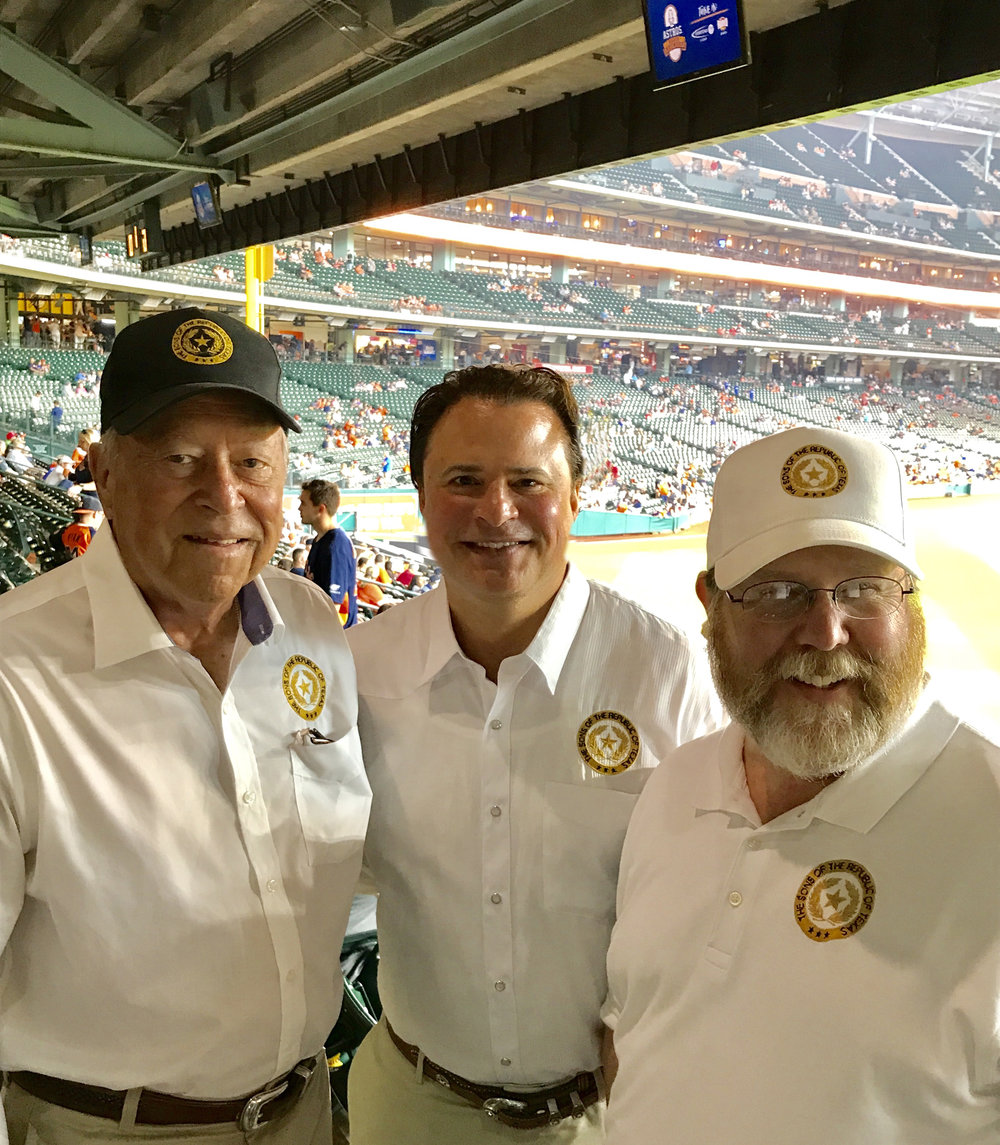 Alamo Chapter  Treasurer    George Chal    l  ,  President    Jason Chall   & Sam Houston   Chapter  President    Ben Warren   pose for a picture before the Houston Astros & Toronto Blue Jays game on Sunday Aug 6th.  Over 60 SRT members from San Antonio & across Houston came out to watch the Astros exciting come back victory in the 9th inning. The Astros scored 4 runs in the final inning to finish the game 7-3. Special thanks goes out to  President    Ben Warren  , who planned & put the event together.