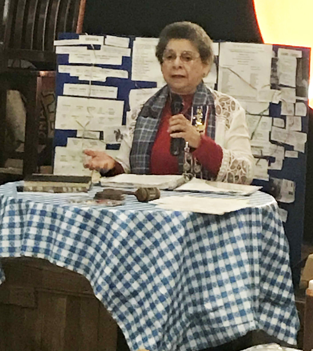 Guest speaker   Eleanor Marie Zepeda   presented to the Alamo Chapter the history of her ancestor Don Juan Ximenes. Mr. Ximenes was born in San Antonio de Bexar in 1810 & was a veteran in the Texas War for Independence, from 1835-1836, the highlight being involved in the storming party at Battle of Bexar on December 5, 1835.