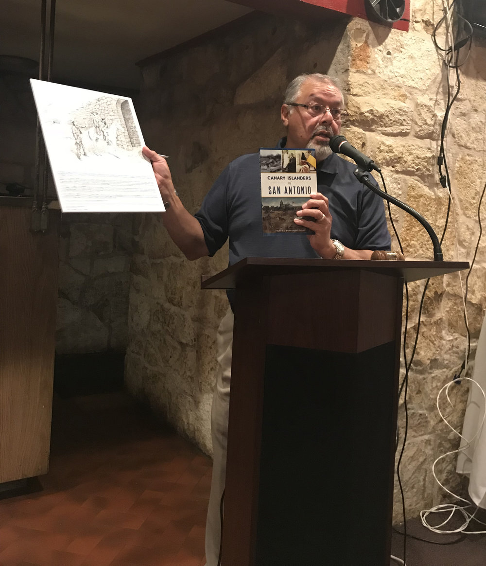 "At our ""Member's Only"" Membership Meeting on Sept. 20th, author & Alamo Chapter Member   Hector Pacheco   discusses his new book  The Canary Islanders of San Antonio ."
