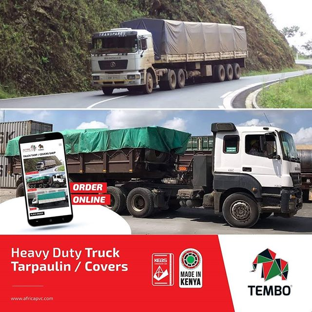 Protect your cargo this rainy season with our heavy duty truck tarpaulin / covers. ✅ Water-Resistant - Protection from rain and moisture. ✅ Tear Resistant - Protection from high winds. ✅ Flame-retardant polyvinyl chloride (PVC). ✅ Corrosion Resistant from UV light and foreign materials such as oils, acids, greases, and mildew.  Order online ▶️ http://bit.ly/2NIfU0C or Get Quote for a Special Size ▶️ http://bit.ly/2WKfqKW  We deliver countrywide - www.africapvc.com