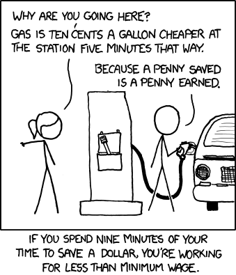 Sometimes it pays to pay. Image:  xkcd