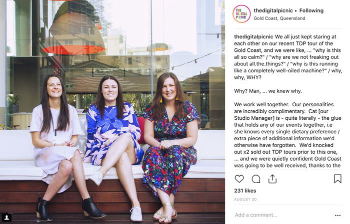 These guys - @thedigitalpicnic - share freely on their Instagram account and have a really engaging style of interaction. Their almost 30K followers can't get enough.