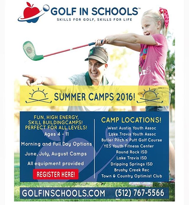 Our summer camps start up on June 6th and run through August 12th! We have camps all across the greater Austin area! Sign up at golfinschools.com!  #golfinschools  #thegolfschool #golf #atx #austintx #austin #texas #atxgolf #golfing #pga #teacher #teaching #coach #coaching #puma #cobra #edel #keepaustingolfing #golfisfun #summer #camp #summercamps #keepaustinfit #summercampatx #austinsummercamps
