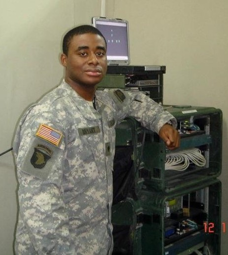 Pictured: Chris serving in the United States Army in 2005