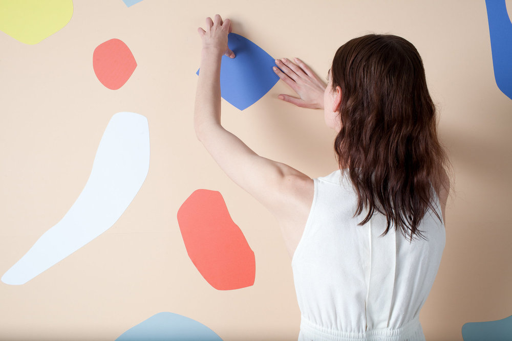Dusen Dusen has created a line of bold and playful magnetic wallcoverings for Visual Magnetics. The ability to change and rearrange the shapes, allows users to continuously reinterpret Dusen Dusen's designs.