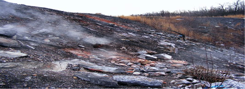 The ground where the Centralia Mine fire is in Pennsylvania (Credit: Lisa LaFosse)