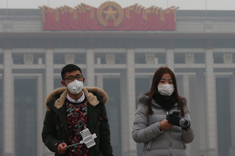 Smog Alert in Beijing (Credit: The Telegraph).