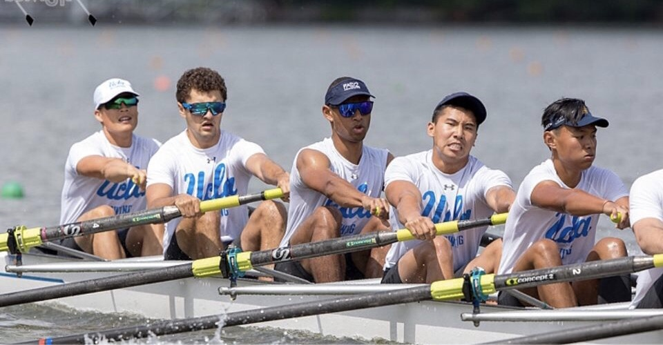 Brother Adam Kaba (middle), UCLA Rowing