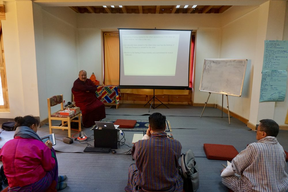 November 2017, Bhutan.  Karen See  and  Ken Chow  proudly conducted a workshop to the  Royal University of Bhutan  Gedu Business College Faculty, on the topics of Leadership and Emotional Intelligence. The faculty discussed different dimensions of leadership, opportunities for personal development, and why values are important in academia.