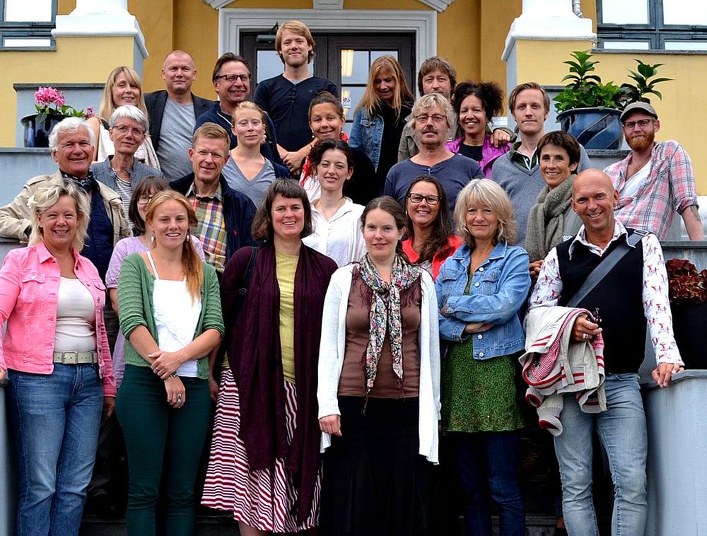 Deltakerne i INK 2013 samlet i Volda i august. Foto: Maria Antvort
