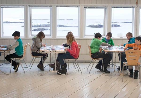 Fra workshopen Mitt blikk - mitt fjell på Andenes barne- og ungdomsskole.