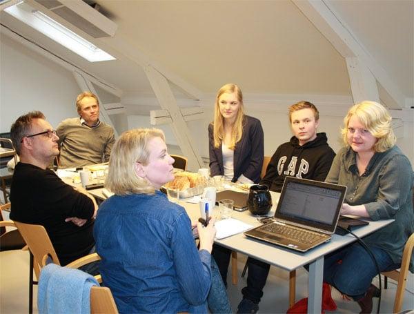 Juryen for Gullsekken 2014. Foto: Øyvor Sekkelsten