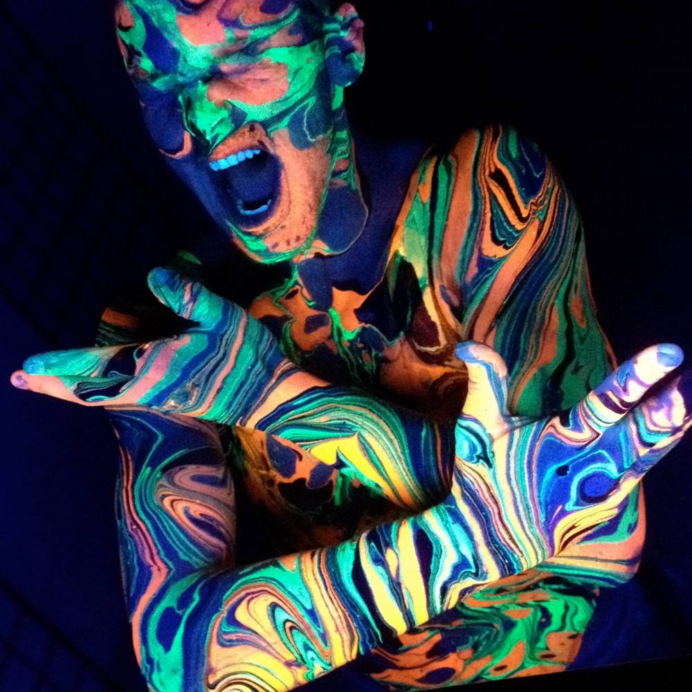 Full Body Marbling Black Light Reactive