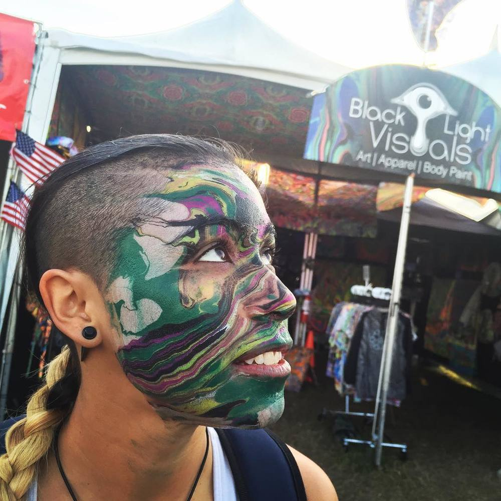 Face Marbling @ Okeechobee Music Festival 2016