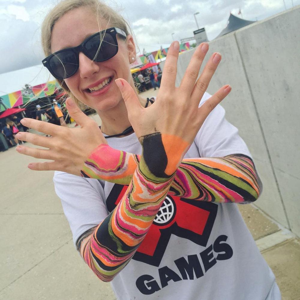 Arm Paint Marbling @ XGames Austin 2016