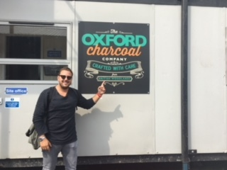 A shout out to our friend John Bastalis @j.burns__ from Greece who visited our yard last Monday to discuss being a distributor for us.  #OxfordCharcoalCompany #TOCC #UKCharcoal