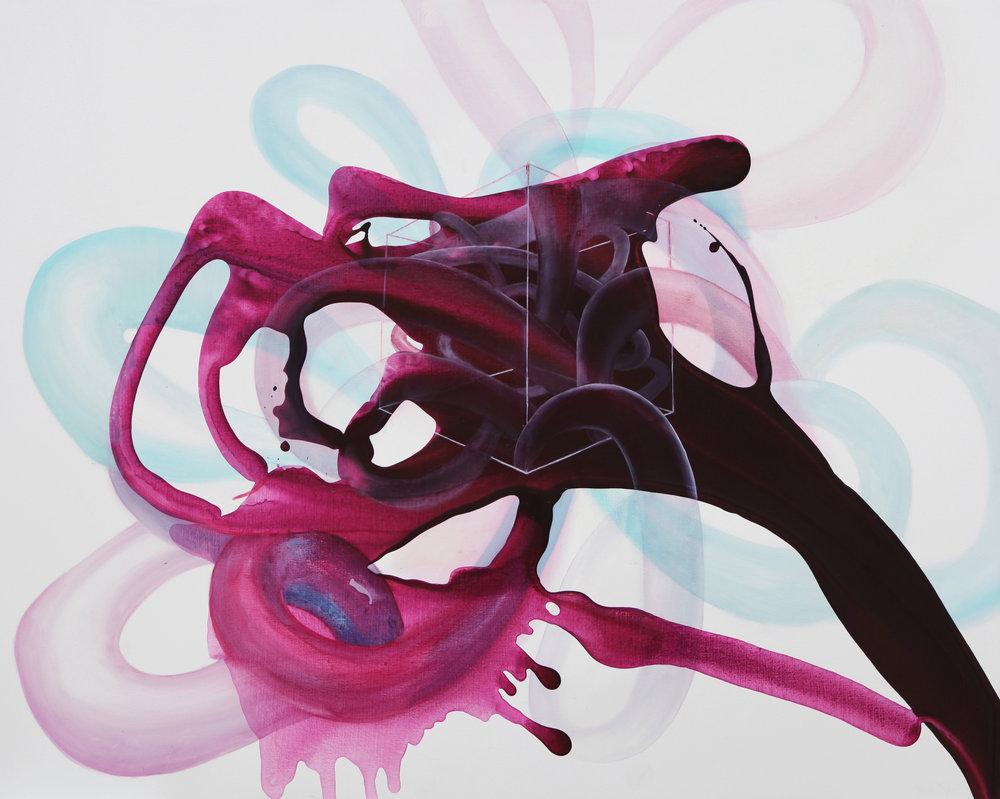 entanglement_14  oil on canvas  91 X 73 cm  2016