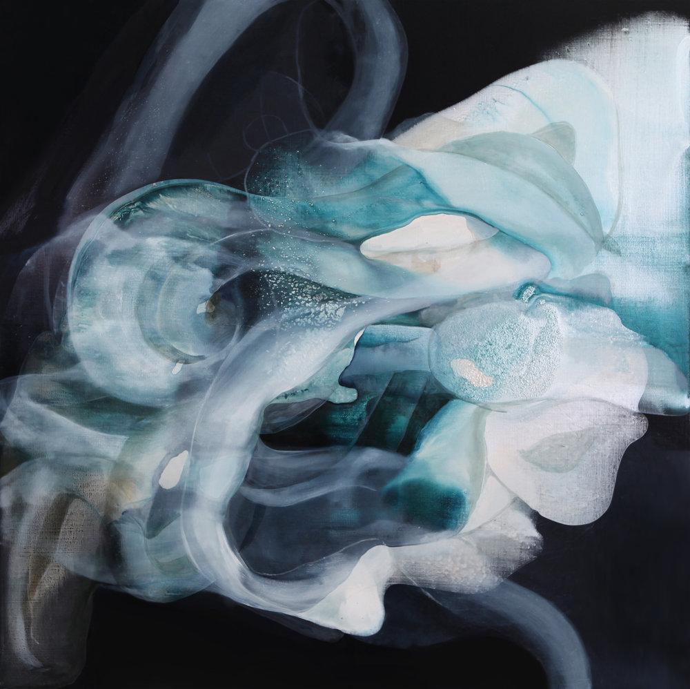 entanglement_01  oil on canvas  112 X 112 cm  2016