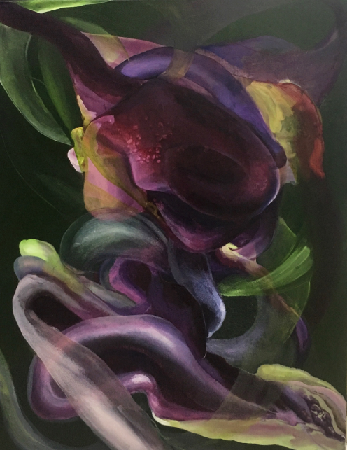 entanglement_12  oil on canvas  73 X 91 cm  2016