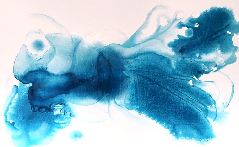 entanglement_03  oil on canvas  130 X 81 cm  2016
