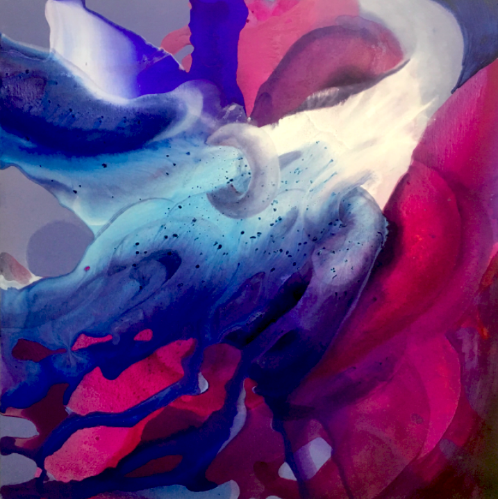 entanglement_13  oil on canvas  130 X 130 cm  2016